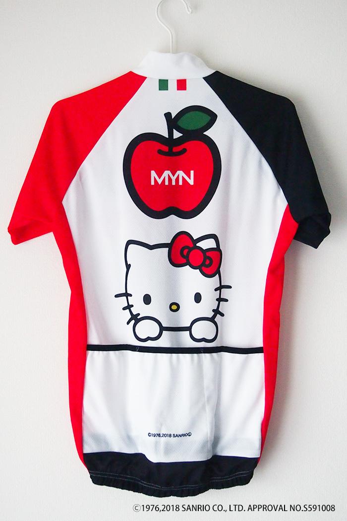 MYN x HELLO KITTY サイクルジャージ-WHTRED